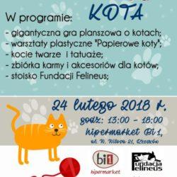 Zapraszamy na Dzień Kota w Hipermarkecie Bi1