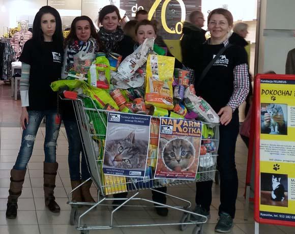 Zbiórka z okazji Dnia Kota w Auchan Krasne
