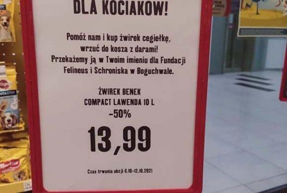 Zbiórka żwirku w  Maxi Zoo w Plaza Rzeszów